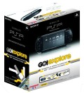 Console PSP Slim & Lite Piano Black et Pack GPS Go!Explore en boîte  d'occasion sur Playstation Portable