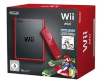 console nintendo wii mini rouge et mario kart wii. Black Bedroom Furniture Sets. Home Design Ideas